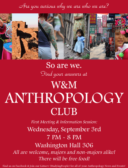 Anthropology First Meeting Poster